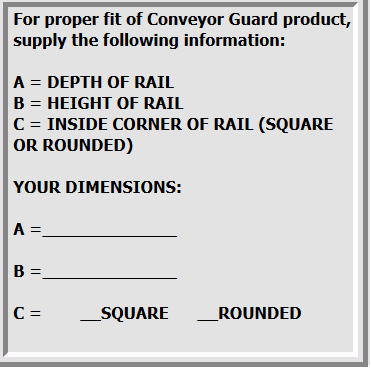 Guard Specs on Contact Conveyor Guard